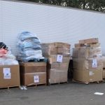 Packages ready for shipment to Iraq.